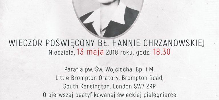 Wieczór poświecony Hannie Chrzanowskiej